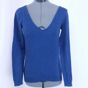 H&M Basic Blue LS Shirt Top XS